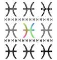 Zodiac Sign Pisces Set vector image