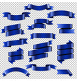 blue web ribbons set vector image