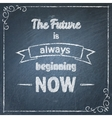 Chalkboard typographic background with quote vector image