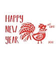 Chinese calendar rooster year vector image