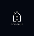 house icon logotype vector image