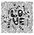 love - hand drawn romantic quote vector image