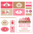 Macaroons and Dessert Collection vector image