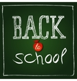 Textposter in american retro style Back to school vector image