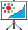 Projector with Graphs vector image vector image
