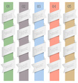 Colored numbered banners in origami style vector image
