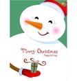 Merry Christmas greetings vector image