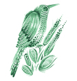bird flower vector image vector image