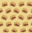 hamburger fast food delicious seamless pattern vector image