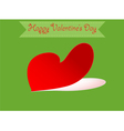 Heart shape valentine vector image vector image