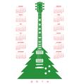 2014 Christmas guitar Calendar 2 vector image