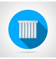 Vertical louvers flat icon vector image