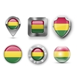 Bolivia Flag Bages vector image
