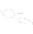 Black White Samoa Outline Map vector image vector image