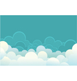 Clouds image for design vector image