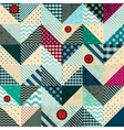 Chevron patchwork in nautical style with grunge vector image