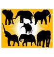 elephants vs vector image