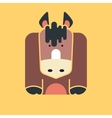 Flat square icon of a cute horse vector image