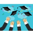 graduates and the joy of graduation vector image