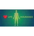 life insurance human silhouette vector image