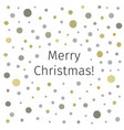 merry christmas banner on spotted background vector image