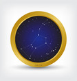 orion constellation in golden circle vector image