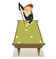 Pool player vector image