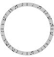 Round music border vector image