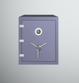 Safe icon isolated on dark background vector image