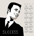 2017 calendar Business Man vector image