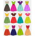 beautiful dress vector image