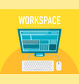 Workspace elements vector image