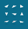 white paper plane icons vector image