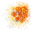 Watercolor bouquet of flowers vector image