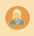 A female avatar Avatar of a woman Round icon image vector image