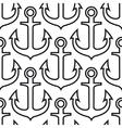 Retro ship anchors seamless pattern vector image vector image
