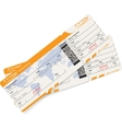 image of two airline boarding pass tickets vector image