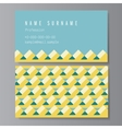 usiness Card with trendy geometric pattern vector image