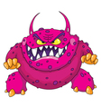 angry monster vector image vector image