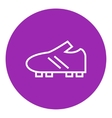 Football boot line icon vector image