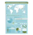 Information graphics green vector image vector image
