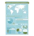 Information graphics green vector image