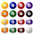 Billiard ball set vector image