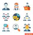Business people Flat icons vector image