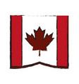 canadian cartoon flat draw vector image