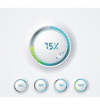 Clean round progress bar vector image
