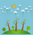 eco friendlyecology concept with tree background vector image