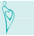 happy pregnancy vector image