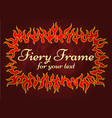 red fiery frame vector image