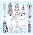 Sketch Isometric Buildings vector image